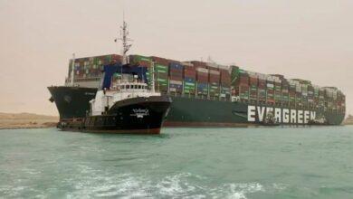 Photo of Tráfego marítimo no Canal de Suez foi retomado na segunda-feira